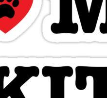 I Heart My Akita Sticker