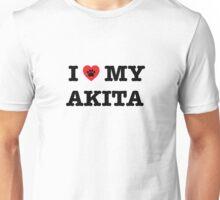 I Heart My Akita Unisex T-Shirt