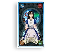 Alice Madness Returns Tarot Card Canvas Print