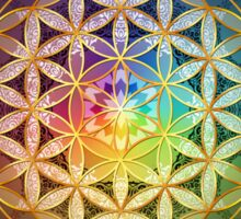 Rainbow Flower of Life with Lotus Sticker