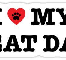 I Heart My Great Dane Sticker