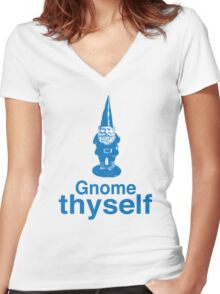 Gnome Thyself Women's Fitted V-Neck T-Shirt