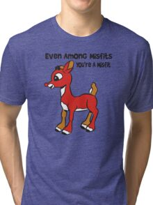 Rudolph The Red Nosed Reindeer Misfit Tri-blend T-Shirt
