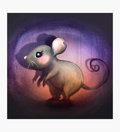Midnight Mouse Photographic Print