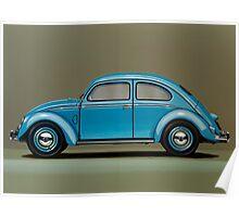 Volkswagen Beetle Painting Poster