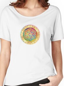 The Flower of Life - light with framing Women's Relaxed Fit T-Shirt