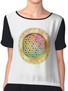 The Flower of Life - light with framing Chiffon Top