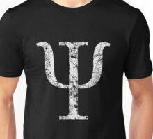 Psi Greek Letter Symbol Grunge Style Unisex T-Shirt