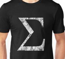Sigma Greek Letter Symbol Grunge Style Unisex T-Shirt