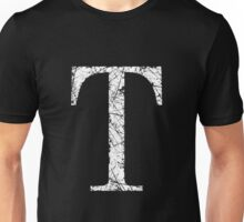 Tau Greek Letter Symbol Grunge Style Unisex T-Shirt