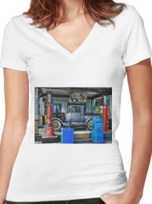 Colonial Gas Women's Fitted V-Neck T-Shirt