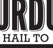Hail purdue Sticker