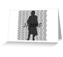 JAMMF Silhouette  Greeting Card