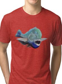 Blue to the bone (for light backgrounds) Tri-blend T-Shirt