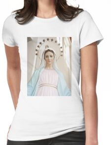 Mary of Medjugorje Womens Fitted T-Shirt