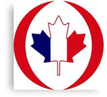 French Canadian Multinational Patriot Flag Series Canvas Print