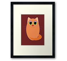 CAT MARMALADE ONE Framed Print