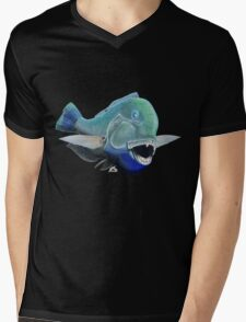 Blue to the bone (for dark backgrounds) Mens V-Neck T-Shirt