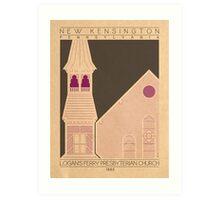 Logan's Ferry Presbyterian Church - 1885 (Purple) Art Print