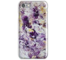 Purple Abstract Flowers iPhone Case/Skin