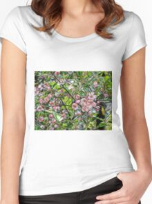 Pink Blossoms Women's Fitted Scoop T-Shirt