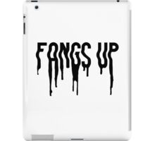 Fangs Up (White) iPad Case/Skin