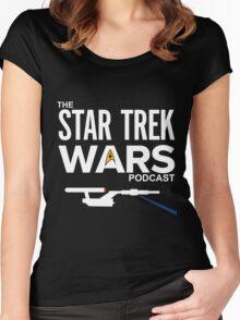 Star Trek Wars Podcast Logo (Transparent Background) Women's Fitted Scoop T-Shirt