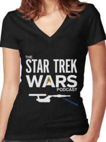 Star Trek Wars Podcast Logo (Transparent Background) Women's Fitted V-Neck T-Shirt