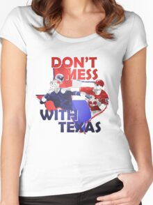Texas Rangers Punch Women's Fitted Scoop T-Shirt