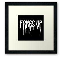 Fangs Up (Black) Framed Print