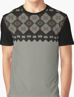 Knitted space invaders ugly sweater Graphic T-Shirt