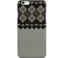 Space invaders ugly sweater iPhone Case/Skin