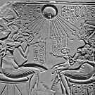 Akhenaten, Nefertiti and three of their daughters by Shevaun  Shh!