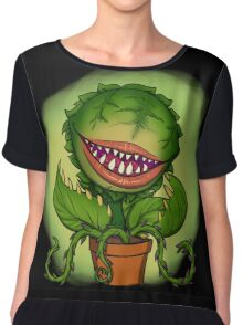 Mean Green Mother From Outer Space Chiffon Top