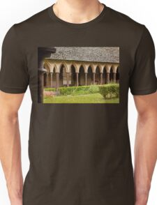 Arches of the Cloister at Mont St. Michel Normandy France Unisex T-Shirt