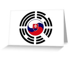 Korean Slovakian Multinational Patriot Flag Series Greeting Card