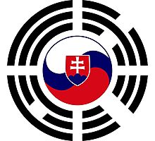 Korean Slovakian Multinational Patriot Flag Series Photographic Print
