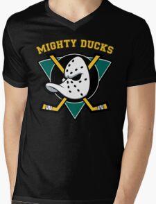 MIGHTY DUCKS Mens V-Neck T-Shirt