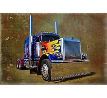 Optimus Peterbilt Photographic Print