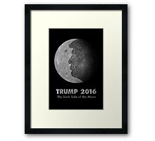 Trump 2016 - The Dark Side Of The Moon Framed Print