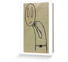 Leaning Man Greeting Card