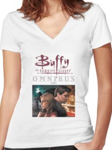 Buffy The Vampire Slayer Omni Bus Women's Fitted V-Neck T-Shirt