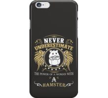 Woman with a hamster iPhone Case/Skin