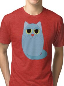 CAT BLUE ONE Tri-blend T-Shirt