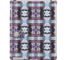 Psychedelic Kalidoscopic Glitched Clematis Flower iPad Case/Skin