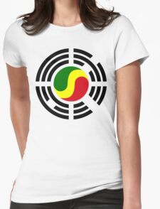 Korean Congolese Multinational Patriot Flag Series Womens Fitted T-Shirt