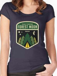 Forest Moon Camping Women's Fitted Scoop T-Shirt