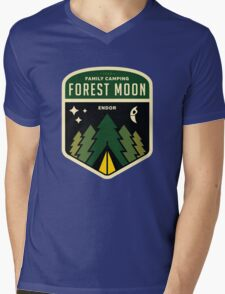 Forest Moon Camping Mens V-Neck T-Shirt