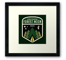 Forest Moon Camping Framed Print