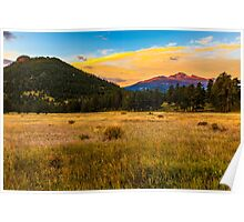First Light at Rocky Mountain National Park Poster